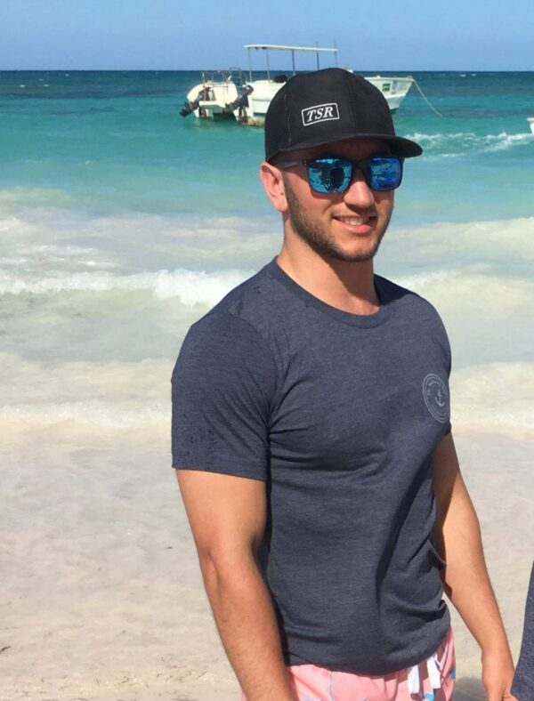 Man wearing Glassy Cap